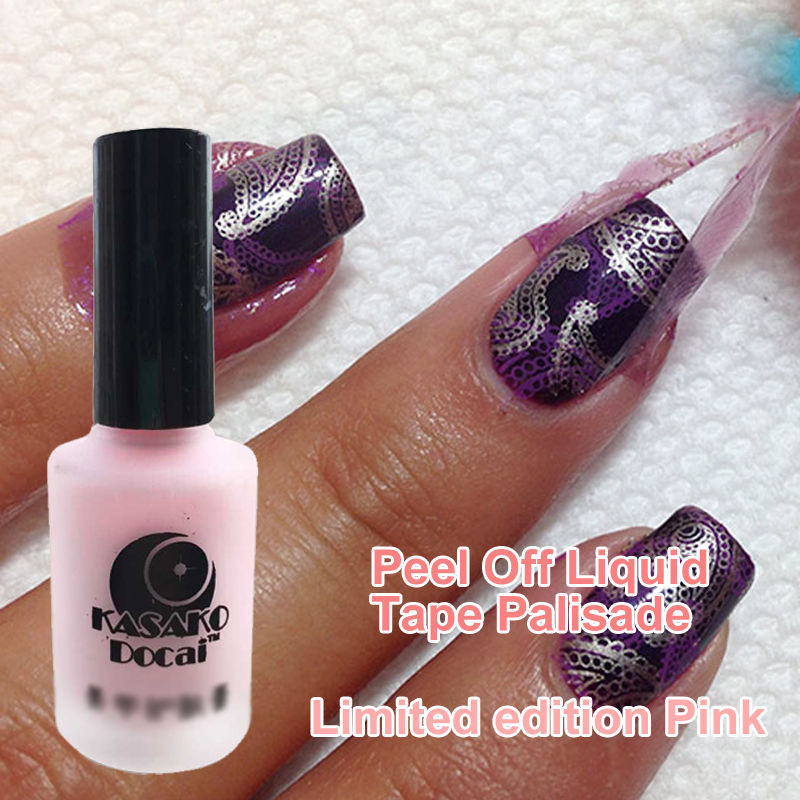 15ml LE Pink Peel Off Liquid Nail Art Tape Latex Tape Palisade For ...