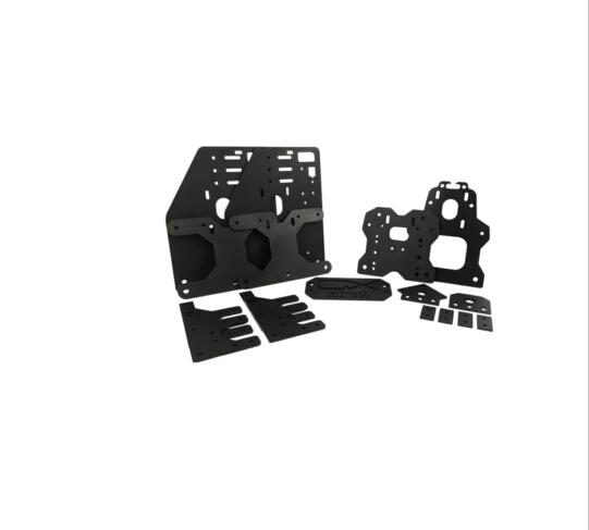 ooznest OX CNC ALUMINIUM PLATES KIT Gantry plates kit for 23NEMA MOTOR joint plate back X axis/front plate set Spacer block