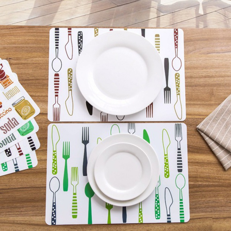 Bowl Pad Placemat Dining Table Mat Disc Pads Coasters Waterproof Table Cloth Pad slip-resistant Mats