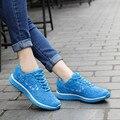 SEANUT 2017 Moda Transpirable Zapatos Para Caminar Al Aire Libre Para Mujeres Entrenadores Zapatos de Los Planos de Las Mujeres Zapatos Casuales de Encaje Hasta Zapatos de Las Señoras