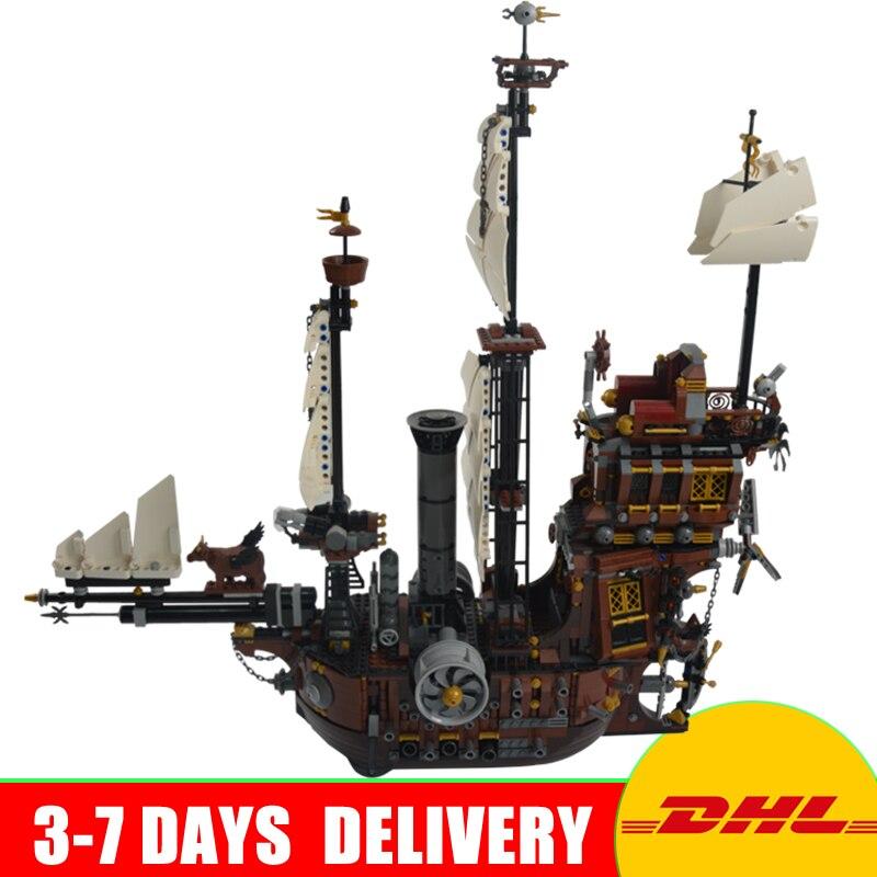 LEPIN 16002 Modular MetalBeard's Sea Cow Building Block Set Bricks Kits Set Toys Compatible 70810 цена и фото