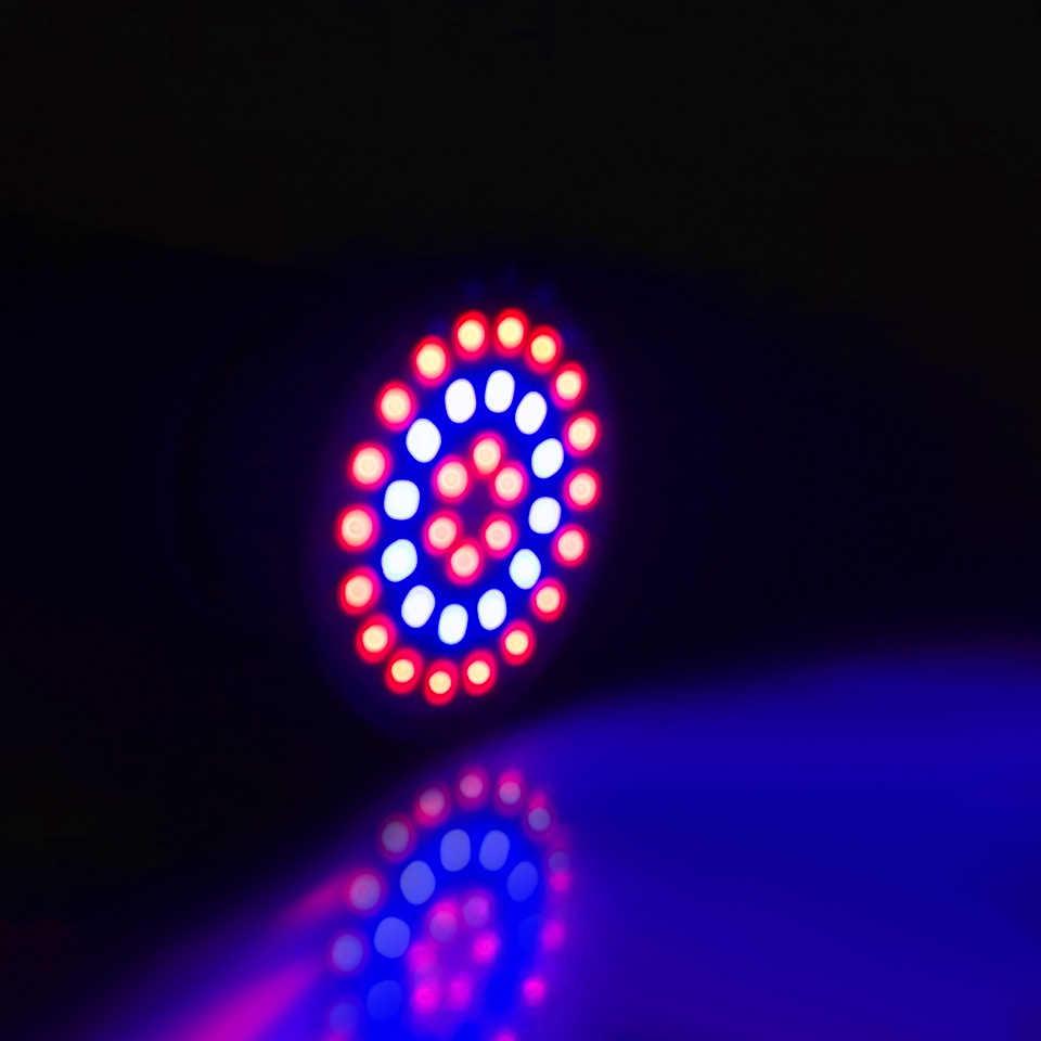 Bombilla LED de crecimiento de 220V E27 GU10 MR16 36 54 72 LED planta lámpara UV jardín invernadero planta hidropónica planta creciente luz led phyto lámpara para las plantas
