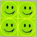 1 лист 10x10 см Светоотражающая защитная наклейка милый канцелярские улыбка сторонний стикер студент мешок мотоцикл Скутер Наклейка на скейтборд - фото