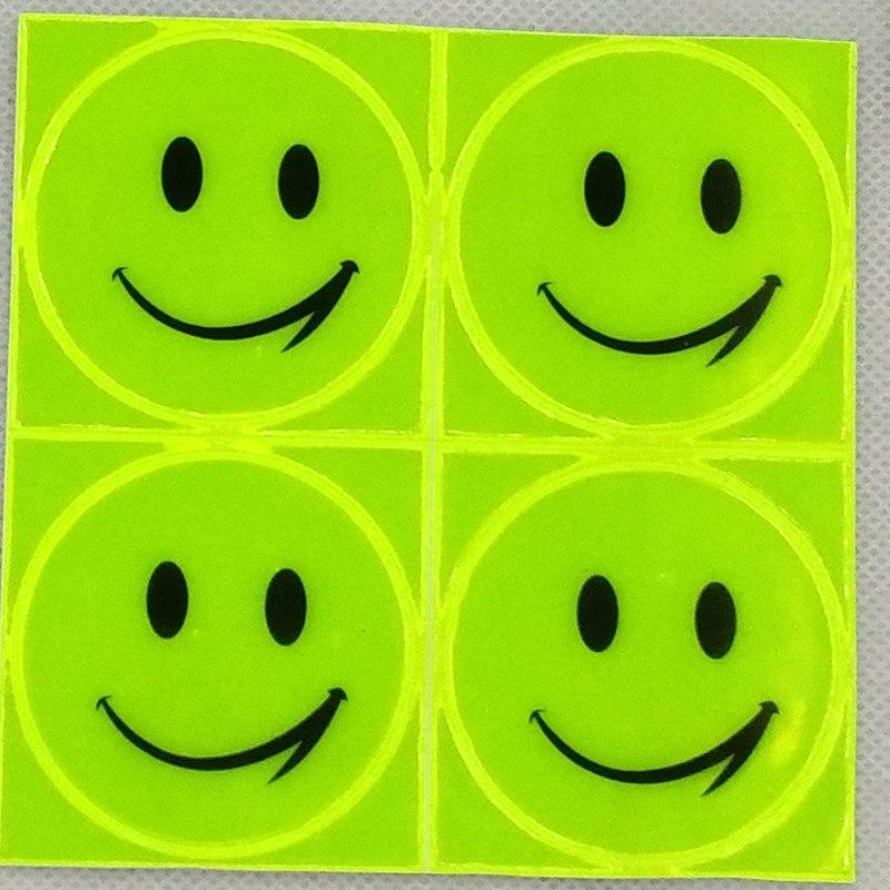 1 лист 10х10см светоотражающие наклейки милый канцелярские улыбка лица стикер для студента сумка мотоцикл самокат для видимый безопасности