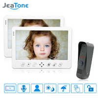 JeaTone Verdrahtete Video Tür Telefon Intercom System 10 ''TFT LCD Monitor Dual-gegensprechanlage Mit Wasserdichte Outdoor IR kamera Home Kit