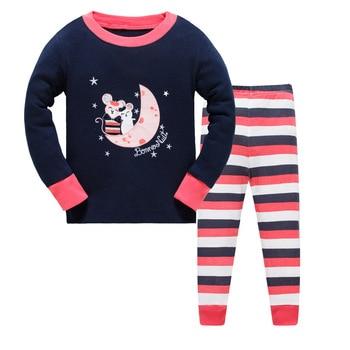 3deef9f33 Niños conjunto de pijama de los niños niñas pijamas de dibujos animados  ropa niños niño niños ropa chándal de manga larga para bebé ropa de dormir
