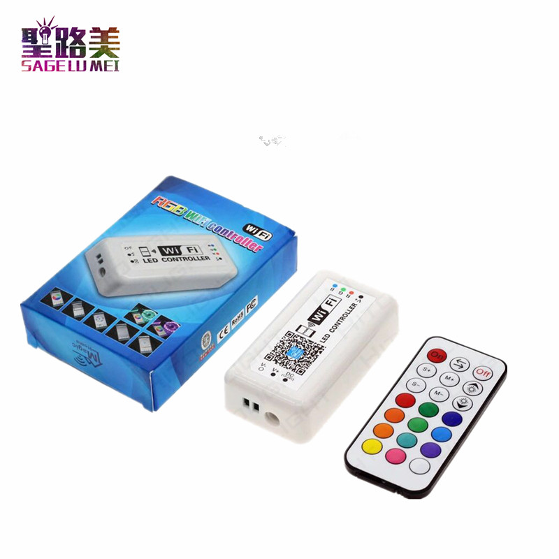 For 5050 3528 LED Strip Light Wifi UFO RGB RGBW LED controller RF Remote By Magic Home Phone WIFI controller Control iOS Android