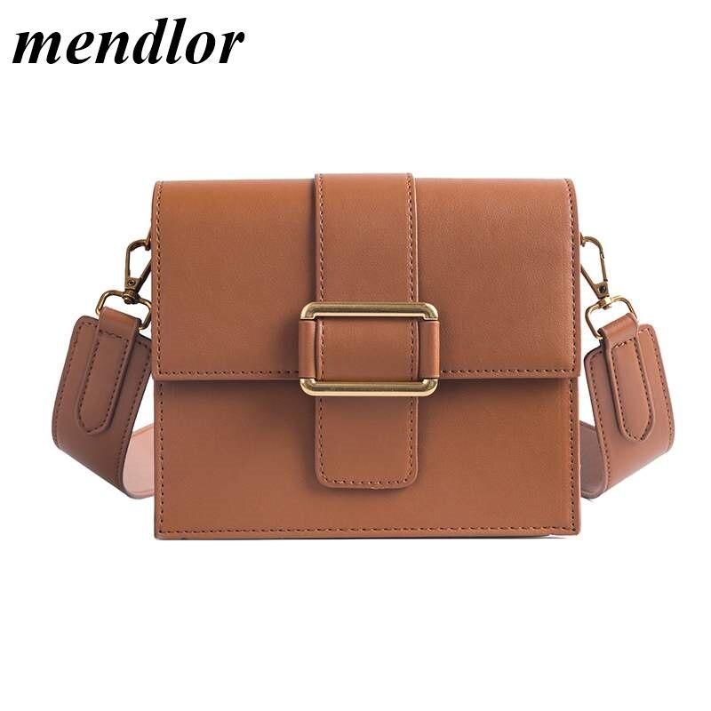 Luxury Handbag 2019 Fashion New Simple Square Bag Quality PU Leather Women's Designer Handbag Portable Shoulder Messenger Bags