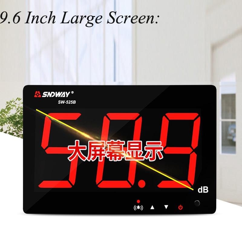 все цены на Decibel Meter Wall-mounted Digital Noise Tester High Precision Professional Household Industrial Noise Detection EquipmentSW-525 онлайн