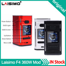 Original Laisimo F4 360W TC Box Mod OLED Display NI200 Ti SS Electronic Cigarette Vape Mod Powered by 2 OR 4 Batteries