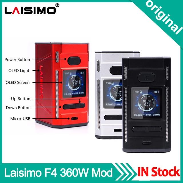 Original Laisimo F4 360W TC Box Mod OLED Display NI200 Ti SS Electronic Cigarette Vape Mod Powered by 2 OR 4 Batteries