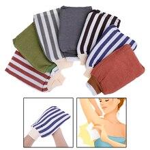 Exfoliating Body Scrub Gloves Shower Bath Skin Massage Sponge Mitt Rubbing Towel Bath Glove