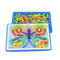 1PC Mushroom Nail Kit Puzzle Toys 3D Mosaic Picture Puzzle Kids Children Birthday Gifts