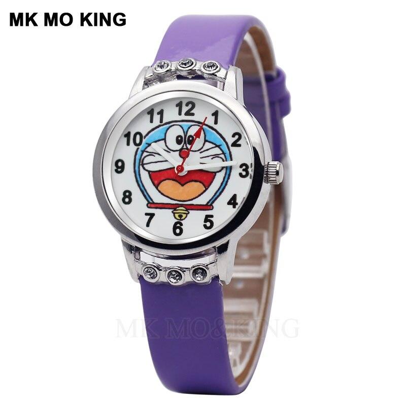 2019 Kinderen Horloge Jongens En Meisjes Cartoon Doraemon Rinkelende Kat Primaire En Middelbare Scholieren Waterdichte Quartz Horloge Online Winkel
