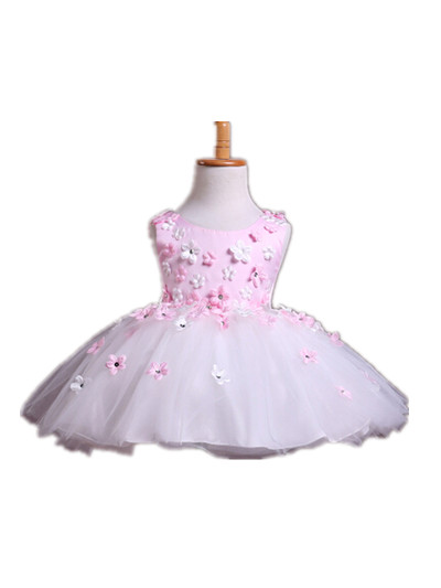BABY WOW Baby Clothes Girl Dresses Cheap Flower Girl Dresses 1 Year Birthday Dress Pink Princess