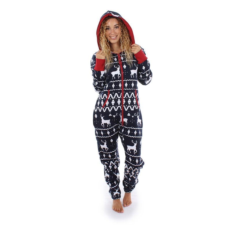 new women one piece outfits print reindeer christmas. Black Bedroom Furniture Sets. Home Design Ideas