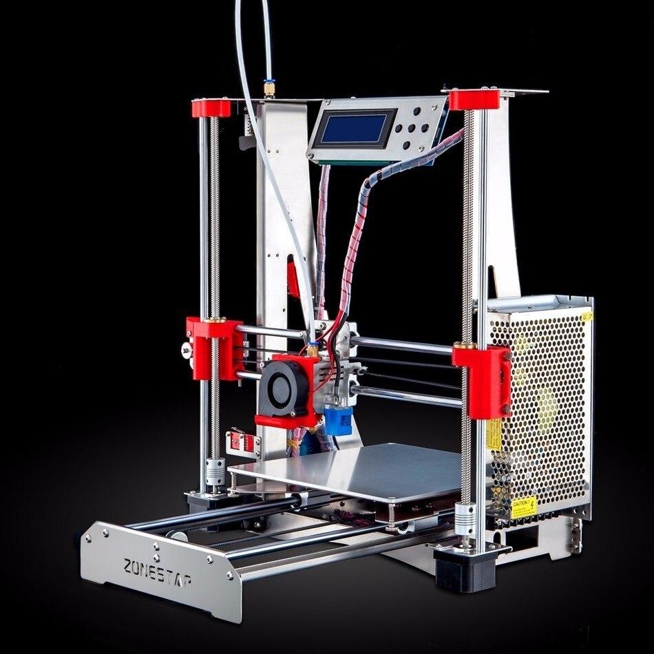 Prix pour Livraison gratuite auto nivellement facile assembler full metal reprap prusa i3 3d imprimante bricolage kit double extrudeuse filament run-out de détection