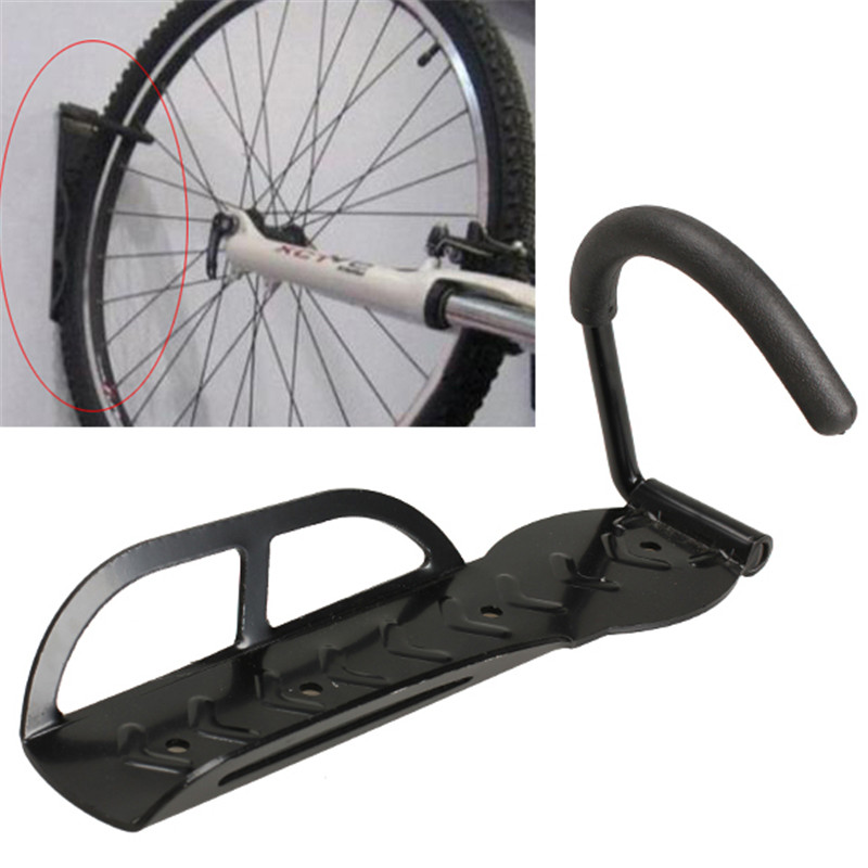 30kg Capacity Bike Wall Mount Bicycle Stand Holder Mountain Bike Rack Stands Steel Hanger Hook Storage Bicycle Accessories Black mountain bike bicycle mount stand for gopro hero black