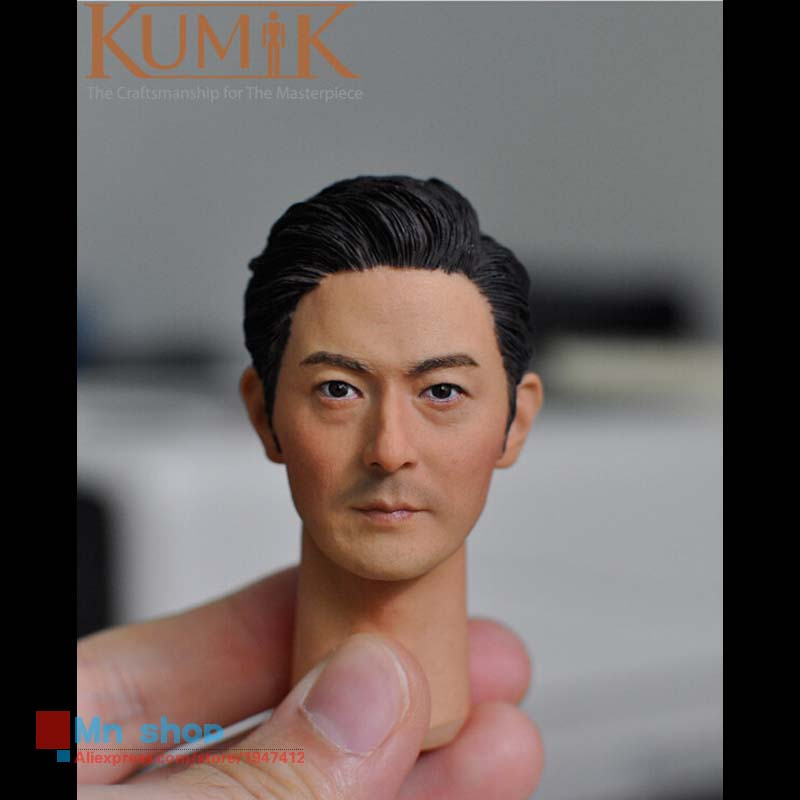 1/6 Head Sculpt KUMIK Star Model Male Figure Headplay Head Carving For 12 Action Figure Collection Doll Toys Gift KUMIK15-20 1 6 male head sculpt snake head carving male headplay for 12 action figures dolls toys accessories