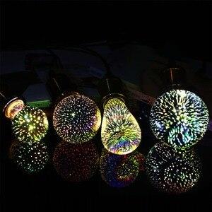 GreenEye Led Light Bulb 3D Decoration Bulb 220v 110v LED Edison Bulb E27 ST64 G80 G95 A60 Holiday Lights Novelty Christmas Lamp
