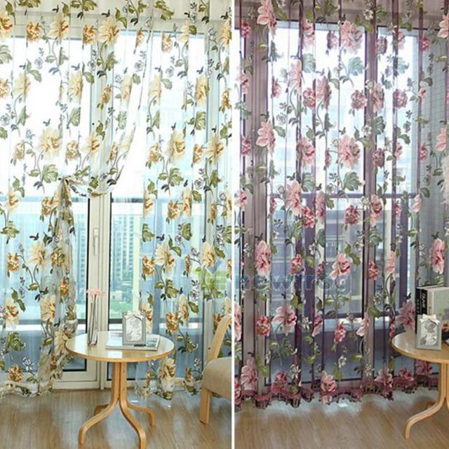 Blume Bestickt Chinesischen Luxus 3D Fenster Vorhänge Stoff Tüll Gardinen  Für Schlafzimmer Wohnzimmer Küche Heimtextilien