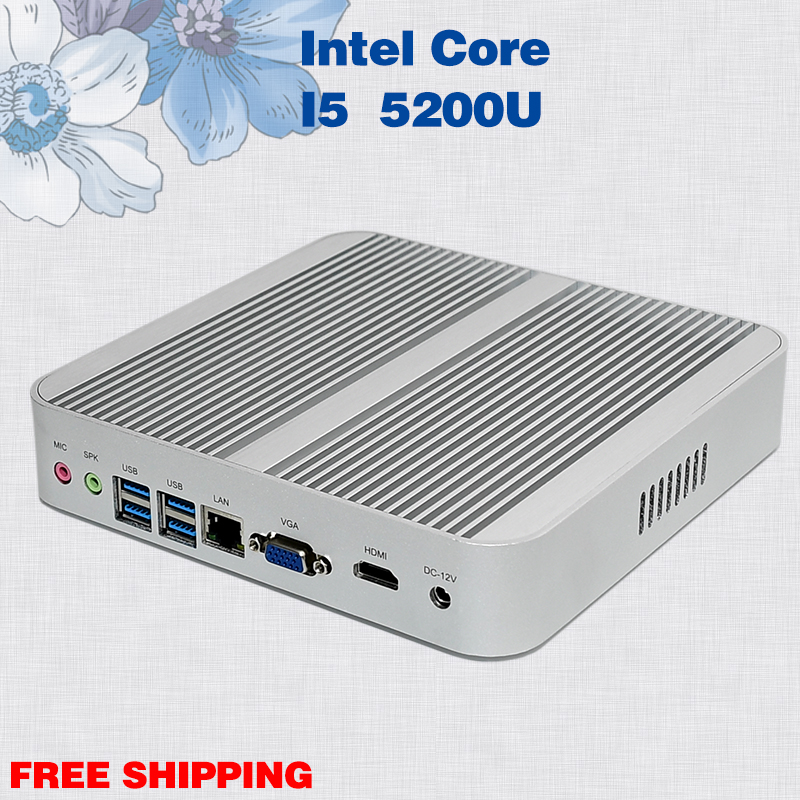 Mini pc 4 gb ram 128 gb ssd sin ventilador de escritorio core i5 Oficina de jueg