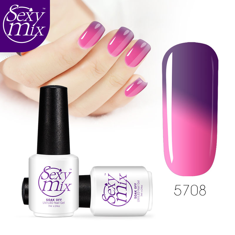 Y Mix Newest 7ml Color Chaning Nail Gel Polish Art Tips Long Lasting Varnish Lacquer Temperature Uv