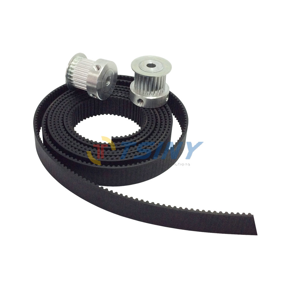 2pcs 25teeth 3M Pulley Bore 6mm  8mm 12mm &3Meter 3M timing Belt width 15mm for 3D printer(4xM5 setscrews & 1xAllen Key)2pcs 25teeth 3M Pulley Bore 6mm  8mm 12mm &3Meter 3M timing Belt width 15mm for 3D printer(4xM5 setscrews & 1xAllen Key)
