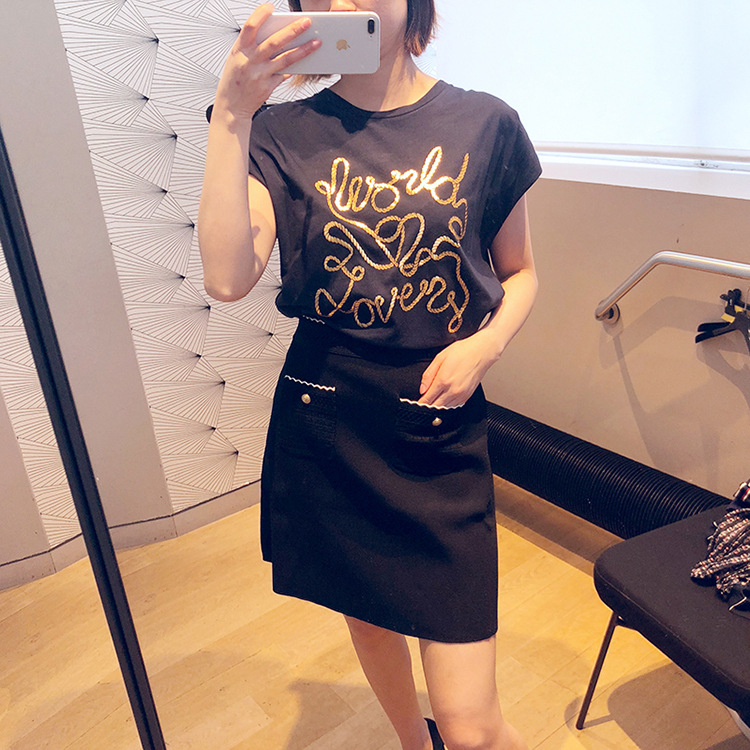 Women T shirt 2019 Spring and Summer New Printed Casual Short sleeved T shirt