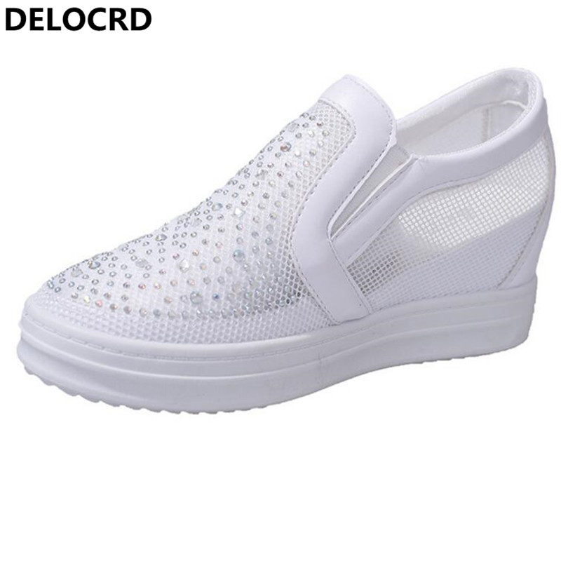 2018 Summer New Shoes New Breathable Mesh Shoes Casual Shoes Ladies White Shoes Sneaker Fashion Mesh Sandals xq new breathable cloth shoes fashion women hollow out summer casual shoe air mesh flat shoes sandals non slip ladies shoes s102