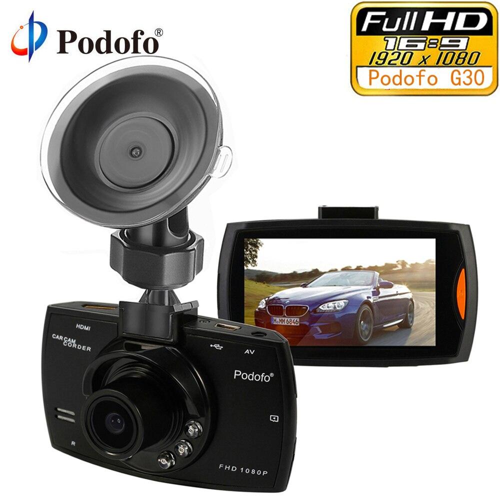 Podofo CÁMARA DE COCHE G30 Full HD 1080 P 2,7