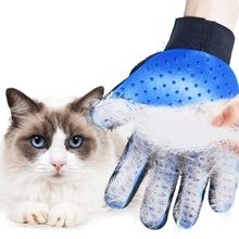 Pet hair gloves comb cat dog beauty cleaning gloves brush pet  glove hair remove Gentle Efficient Pet Grooming Glove pet cleaning supplies massage to float hair printing gloves white cat dog hair bathing beauty gloves dog silicone comb gloves