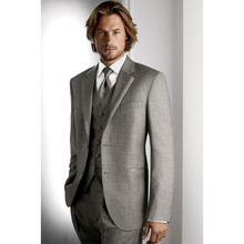 High quality Men's Wedding Dress Groom Wear Bridegroom suits Prom Clothing Groom Tuxedos (Jacket+Pants+Vest) A086