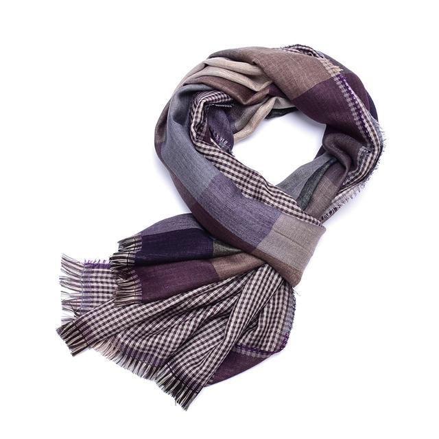 Bufanda a cuadros hombres de la borla de algodón homme masculino azul bufandas cachecol warm tartán bufanda echarpe foulard marca hombre de Negocios