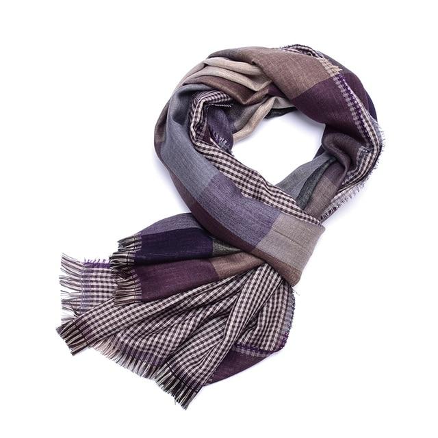 Plaid scarf men cotton tassel echarpe homme blue scarves cachecol masculino  warm tartan bufanda hombre Business foulard brand d9d23a8feab