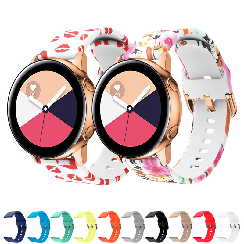20mm Silicone Strap For Samsung Galaxy Watch Active 42mm S2 Classic Band Amazfit Bip Huawei Watch 2 Bracelet S/L Size