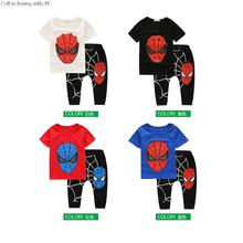 Baby Boys Sets Spider Man Suits Infant Kids Clothing Sets toddler ensemble fille T Shirt+Pants Boy Summmer Children Clothes Hots
