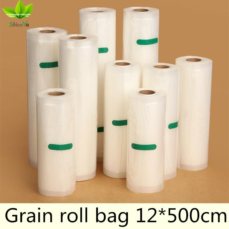 12*500cm/Roll Vacuum Bag Fresh - keeping Bag Food Preservation Bag Storage Bag fresh keeping vacuum wine bottle stopper black transparent