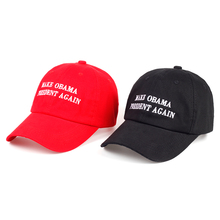 2017 fashion new Make Obama President Again Dad Hat men women Cotton Baseball Cap Unstructured New - Red cotton caps