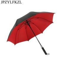 Golf Umbrella Men Strong Windproof Semi Automatic Long Handle Rain Large Man and womens Business Umbrellas
