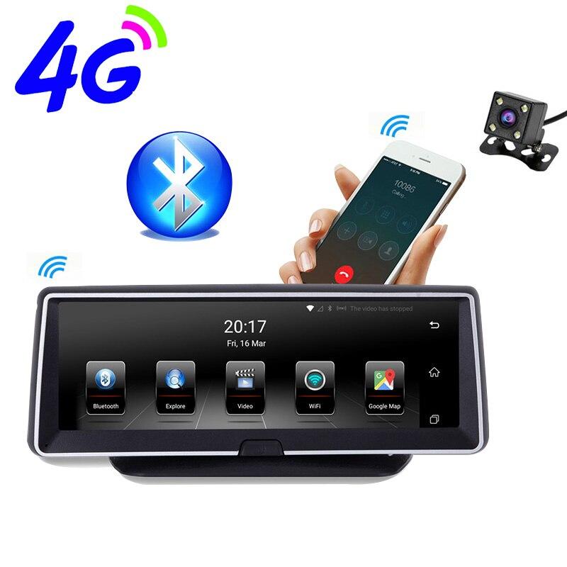 8 pouces 4G Android voiture à double lentille gps enregistreur numérique Navigateur ADAS Full HD 1080 P Dash Caméra Auto Vidéo IPS Greffier Navigation enregistreur