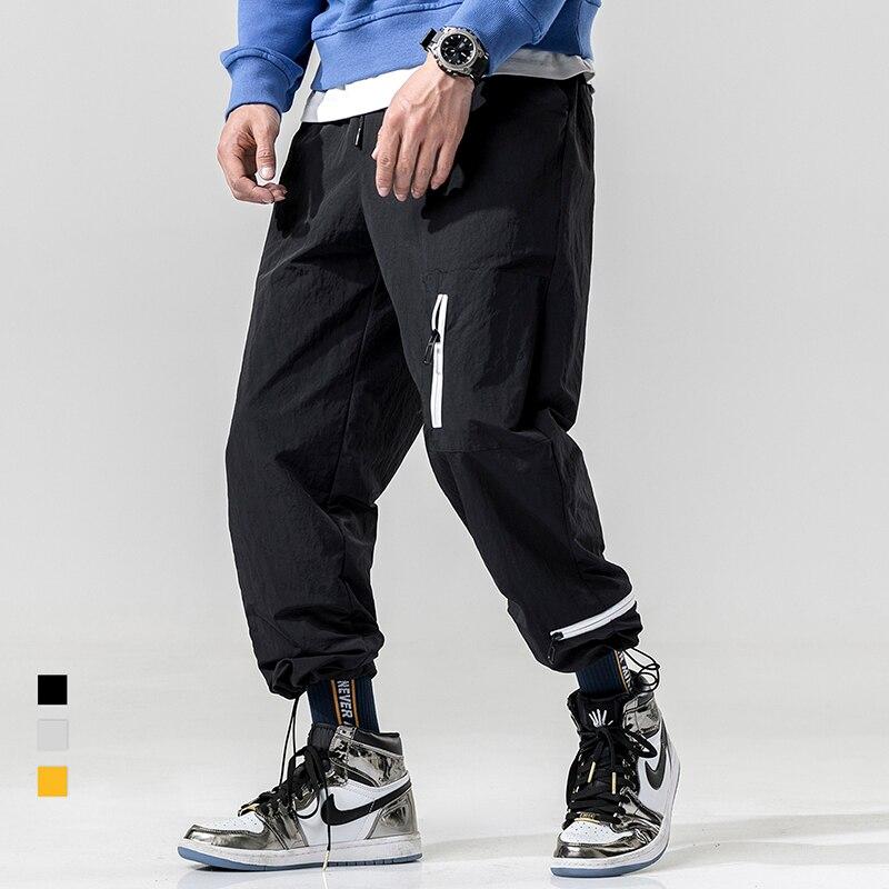 Carga ds355 2019 Moda Streetwear Los negro De Chándal Hombre A543 Tatical amarillo Bolsillos Harén Negro Hip Pantalones Beige Hombres Pantalón Hop Casual qwUYt