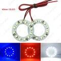 2 шт. 40 мм Автомобилей Angel Eyes 1210/3528 12SMD СВЕТОДИОДНЫЕ Фары Гало Кольцо Глаза Ангела Освещение Белый Красный Синий # CA2666