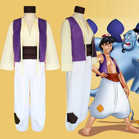 Hot! Halloween Custom made Animation Aladdin Prince Cosplay Costume Men Clothes XXS 3XL