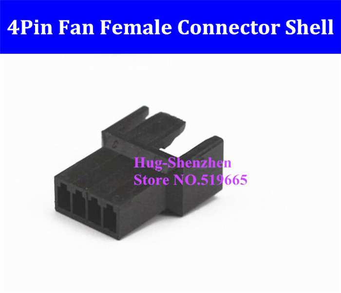 China Wholesale 4Pin 4 Pin PWM Fan Female Power Supply Connector plastic shell for male terminals - Black electrical products shell plastic injection mold makers china