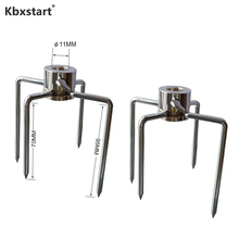 Kbxstart 2pc/set Multifunctional Stainless Steel BBQ Fork Grill Rotisserie Meat Forks Barbecue Accessories Dining Party Supplies