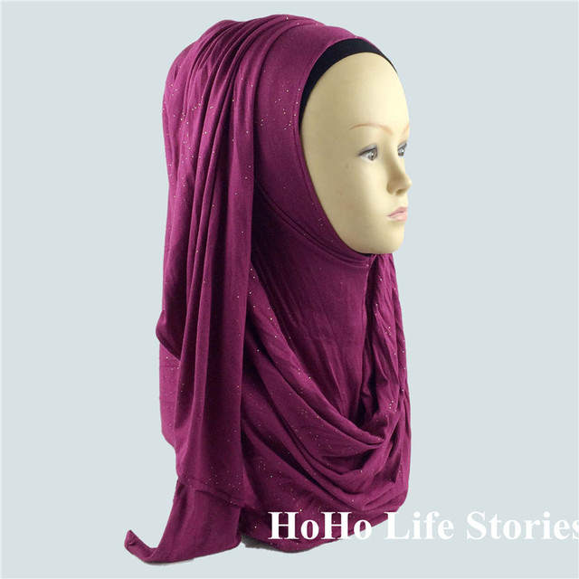 CJ115 Glitter moda hijabs muçulmanos cachecol moda belas mulheres de lenços (sem underscarf)