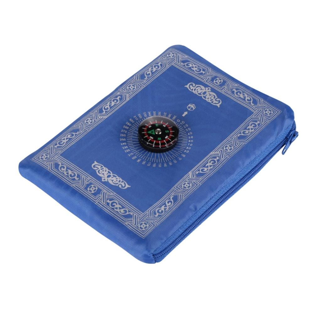 100*60cm Portable Waterproof Pocket Muslim Prayer Rug Oxford Fabric Mat Blanket Prayer Mat With Compass In Pouch