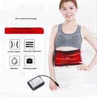 Electric Vibration heating Belt Charging physiotherapy Moxibustion waist pain massager belt relieve spine psoas fatigue Support