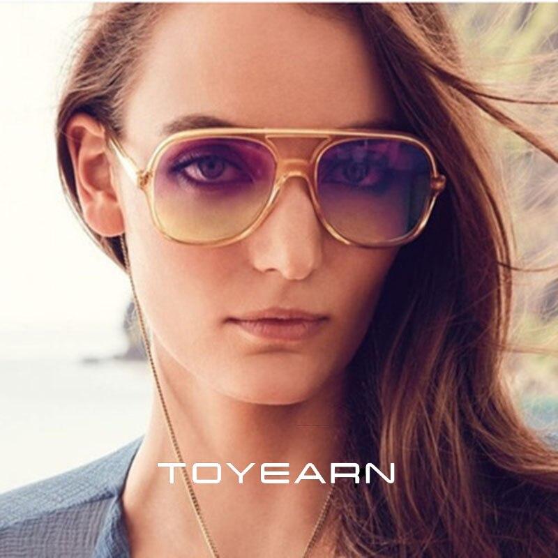 Fashion Brand Designer Vintage Flat Top Sunglasses Women Transparent Gradient Shades Sun Glasses For Female Gafas Oculos de sol
